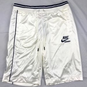 Nike Sportswear Woven Archive Track Shorts White